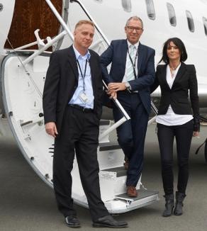 Martin Muehlmeyer CEO , Volker Lemke CSO , Andrea Dippacher CFO